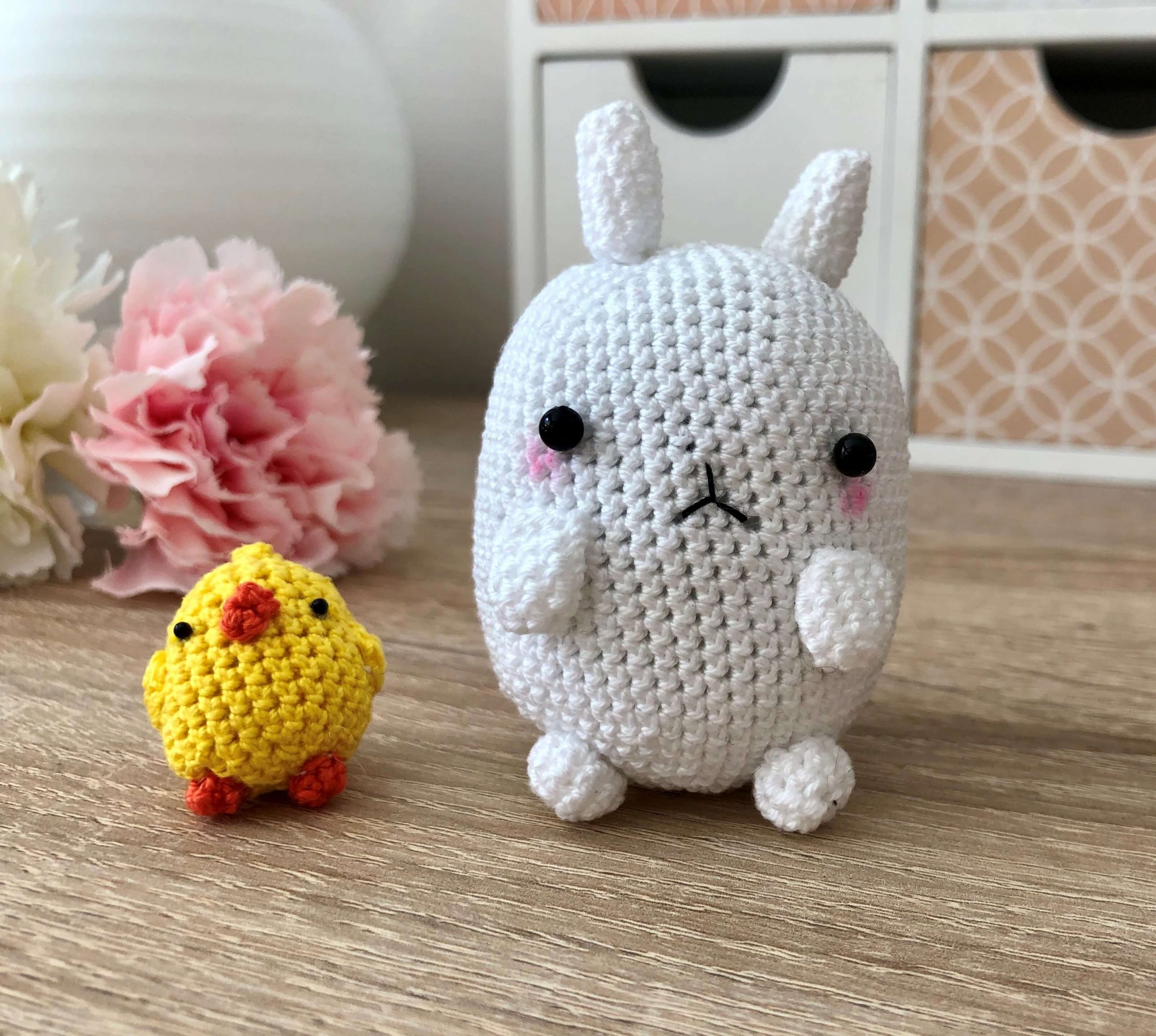 Molang cute Hand made Hand-knitted Doll collaboration - Molang and ... | 2294x2560